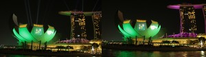 All You Need is Less, Marina Bay Sands, Laser Light Show, Image Projection - Laservision