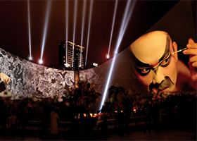 Cultural Centre, Video Mapping, Multimedia Sound and Light Show, Hong Kong - Laservision
