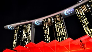 Singapore National Day, Marina Bay Sands, Video Mapping, Laser Projection - Laservision