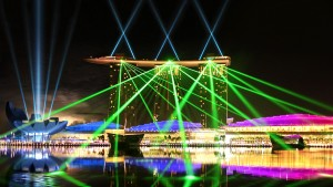 Wonder Full, Marina Bay Sands, Laser Light and Water Screen Show - Laservision