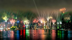 Symphony of Light, Laser Light Show, Hong Kong Architectural Lighting - Laservision