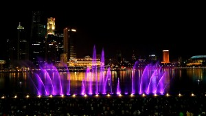 Wonder Full, Marina Bay Sands, Laser Light Show, Water Fountains - Laservision