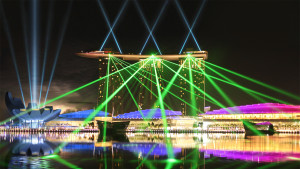 Marina Bay Sands, Lasers, Architectural Lighting, Multimedia Tourist Attraction - Laservision