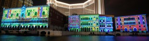 Venetian Macao, 3D Video Mapping, Multimedia Sound and Light Show - Laservision