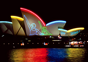 2000 Olympics, Laser Billboarding, Multimedia Tourist Attraction - Laservision