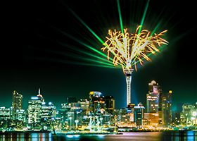 Sky Tower, Pyrotechnics, Laser Light Show, Multimedia Attraction - Laservision