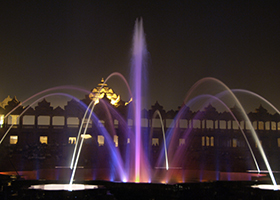 Akshardham, Light, Water Screen, Musical Water Fountain Attraction - Laservision