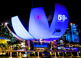 Earth Hour, Marina Bay Sands, Laser Projection, Architectural Lighting - Laservision